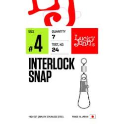 Pöörlaga karabiin LJ PRO Interlock Snap