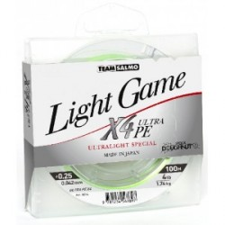 Braided line Team Salmo Light Game X4 Ultra PE