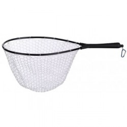 BALZER WADING LANDING NET WITH TRANSPARENT RUBBER NET