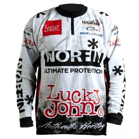 T-shirt sport WHITE NORFIN & LUCKY JOHN