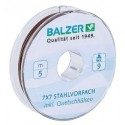 14570009 Trosside material BALZER 7X7 SPOOL, UNCOATED