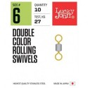 LJP5121-010 Вертлюжки LJ Double Color Rolling Swivels