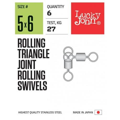 Вертлюжки трёхсторонние LJ Rolling Triangle Joint Rolling Swivels