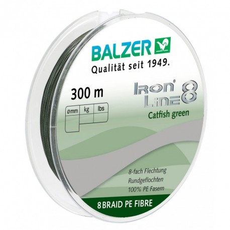 Braided line Balzer Iron Line Catfish 300m