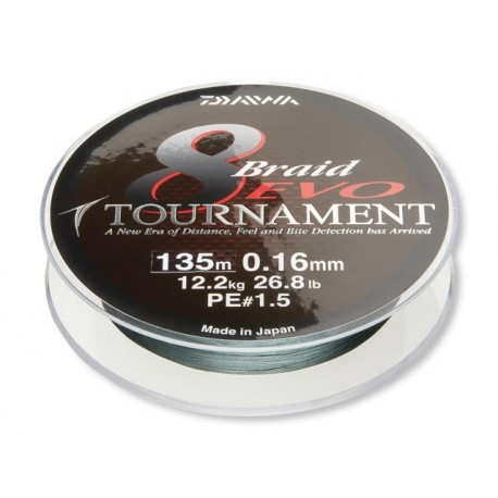 Braided line Daiwa Tournament 8 Braid Evo