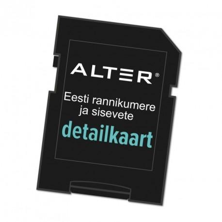 Elektrooniline kaart. Eesti rannik.