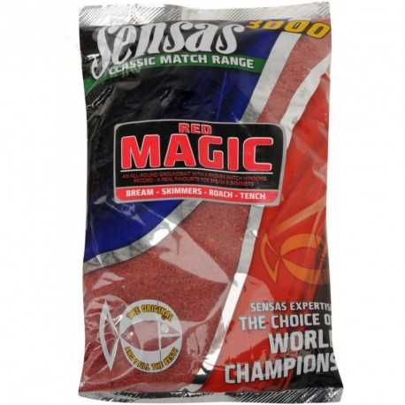 Groundbait Sensas 3000 MAGIC RED UK RANGE