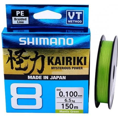 Braided line Shimano Kairiki PE VT Mantis Green