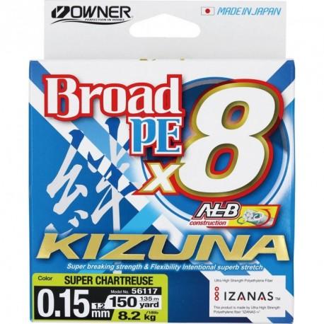 Braided line Owner Kizuna Super Chartreuse 135m