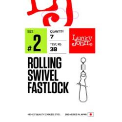 Pöörlaga karabiin LJ PRO Rolling Swivel Fastlock