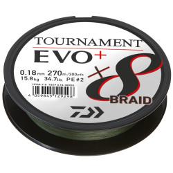 Braided line Daiwa TOURNAMENT X8 BRAID EVO+ 135m