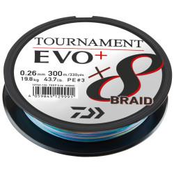 Braided line Daiwa TOURNAMENT X8 BRAID EVO+ 300m