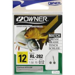 Крючки с поводком Owner MATCH RL-282