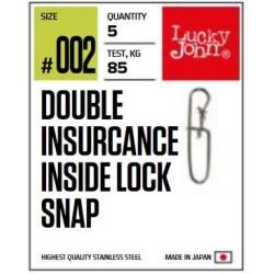 Lõks Lucky John BBS Double Insurance Inside Lock Snap