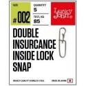 LJP5128-002 Lõks Lucky John BBS Double Insurance Inside Lock Snap