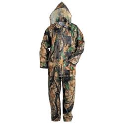 Waterproof suit NORFIN RAIN CAMO GREEN