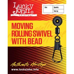 Pöörlaga karabiin LJ MH Moving Rolling Swivel with Head