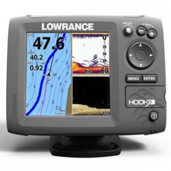 Fishfinder LOWRANCE HOOK-5 Mid/High, DownScan